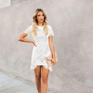 NWT Sugar + Lips White Lace Dress